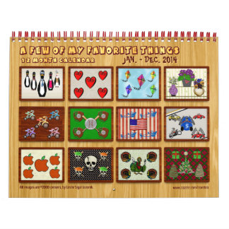 12 Months of My Favorite Things - Customized Calendar