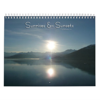 12 Months of Sunrises and Sunsets, 1st Edition Calendar