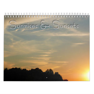 12 Months of Sunrises and Sunsets, 2nd Edition Calendar