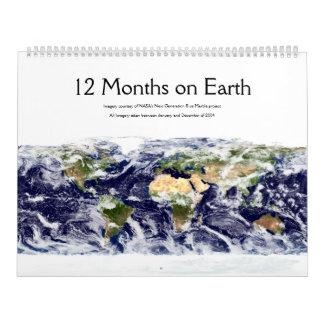12 Months on Earth Calendar