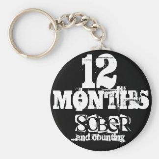 12 Months Sobriety Keychain