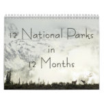 12 National Parks in 12 Months, 1st Edition Calendar