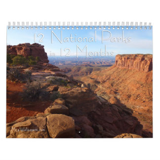 12 National Parks in 12 Months, 4th Edition Calendar