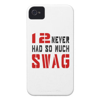 12 Never Had So Much Swag iPhone 4 Case-Mate Case