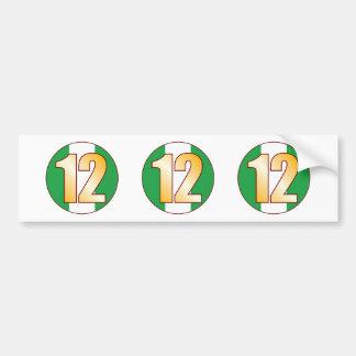 12 NIGERIA Gold Bumper Sticker