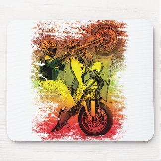 12 O'clock Wheelie Mouse Pad
