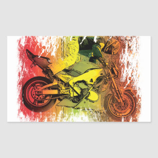 12 O'clock Wheelie Rectangular Sticker
