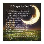 12 pasos para el cuidado del uno mismo impresion de lienzo