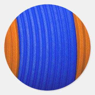 12 pegatina azul y anaranjado