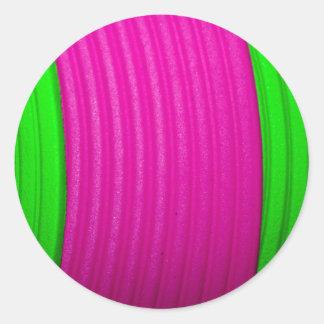 12 pegatina rosado y verde