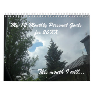 12 personal goals for the New Year inspirational Calendar