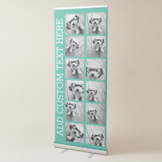 12 Photo Collage with Custom Background Retractable Banner