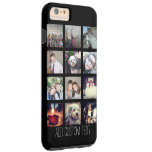 12 Photo Instagram Collage with Black Background iPhone 6 Plus Case