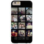 12 Photo Instagram Collage with Black Background Barely There iPhone 6 Plus Case