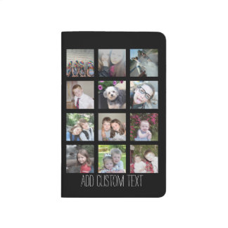 12 Photo Instagram Collage with Black Background Journal