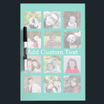 """12 Photo Instagram Collage with Green Background Dry Erase Board<br><div class=""""desc"""">Add your favorite pics to this fun template. You can use Instagram photos or any photos for this grid.</div>"""