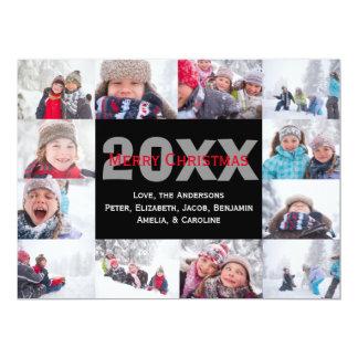 12 Photo Merry Christmas Collage-6x8Christmas Card