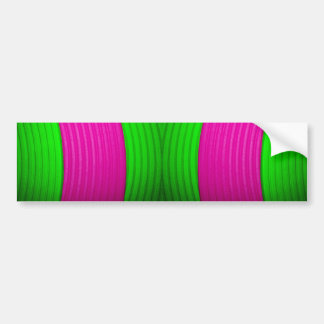 12 Pink & Green Bumper Sticker Car Bumper Sticker