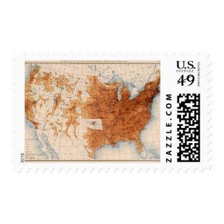 12 Population 1890 Postage Stamps