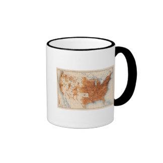 12 Population 1890 Ringer Coffee Mug