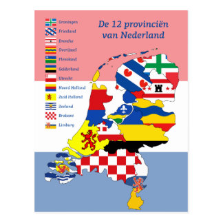 12 Provinces of the Netherlands Postcard