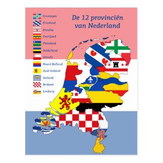 12 provincias de los Países Bajos Postal