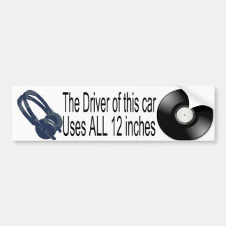 12 pulgadas de pegatina para el parachoques del pegatina para auto