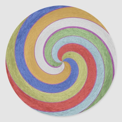 12  PURE Energy Vibes Aura Cleaning Spectrum Classic Round Sticker