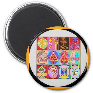 12 Reiki n Karuna Reiki Healing Designs 2 Inch Round Magnet