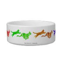 12 Running Cats Pet Bowl
