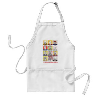 12 Russian Composers Adult Apron