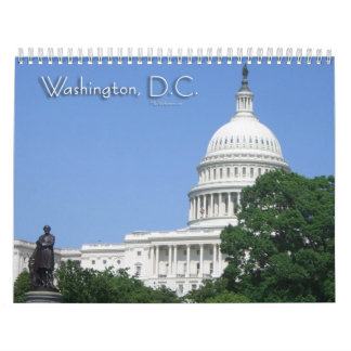 12 Scenes from Washington DC Calendar