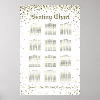 12 Seat Gold Confetti Seating Chart