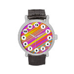 12 Spots - Brush with Color Wrist Watches