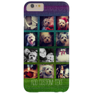 12 square instagram photo collage colorful design barely there iPhone 6 plus case