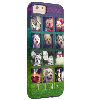 12 square instagram photo collage colorful design tough iPhone 6 plus case