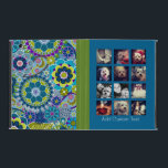 """12 square photo collage colorful floral pattern iPad cover<br><div class=""""desc"""">Create your own instagram artwork. Add your favorite photo sharing pics to this fun grid.</div>"""