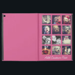 """12 square photo collage with hot pink background iPad pro 12.9&quot; case<br><div class=""""desc"""">Create your own instagram artwork. Add your favorite photo sharing pics to this fun grid.</div>"""