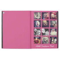 """12 square photo collage with hot pink background iPad pro 12.9"""" case"""