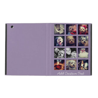12 square photo collage with orchid background iPad cover