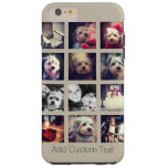 12 square photo collage with taupe background tough iPhone 6 plus case