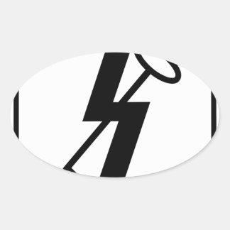 12 SSH Jin sig Oval Sticker