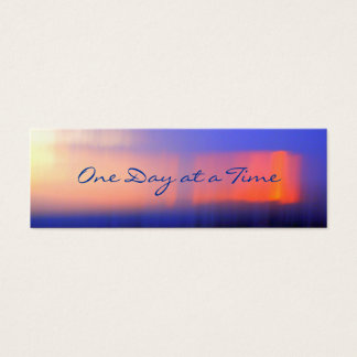 12-Step Abstract Sunset Profile Card or bookmark