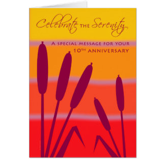 12 Step Birthday Anniversary 10 Years Clean Sober Card
