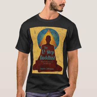 12-Step Buddhist Full Book Cover T-Shirt
