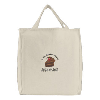 12 Step Chocoholic Embroidered Tote Bag