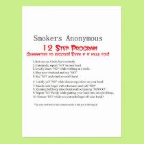 12 Step Program Postcard