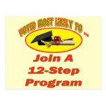 12 Step Program Postcards