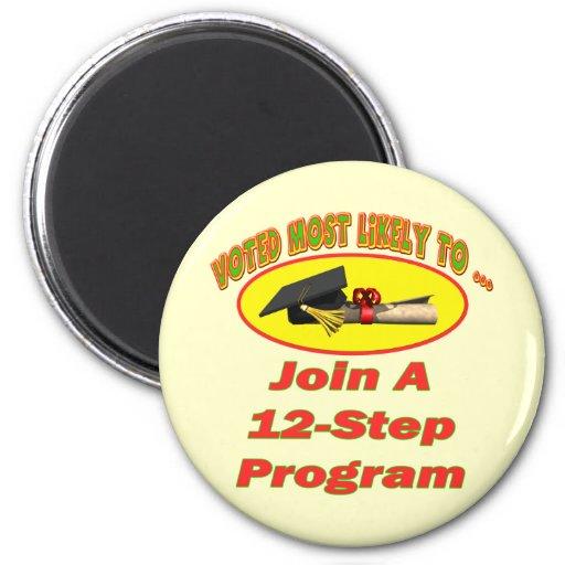 12 Step Program Refrigerator Magnet