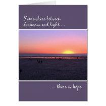 12 Step Recovery Anniversary Birthday Beach Sunset Card